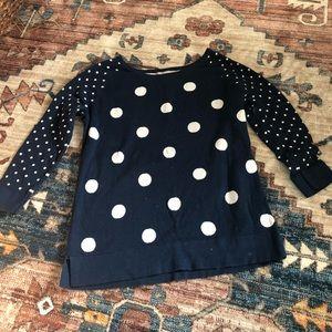 Banana Republic polka dot lightweight sweater